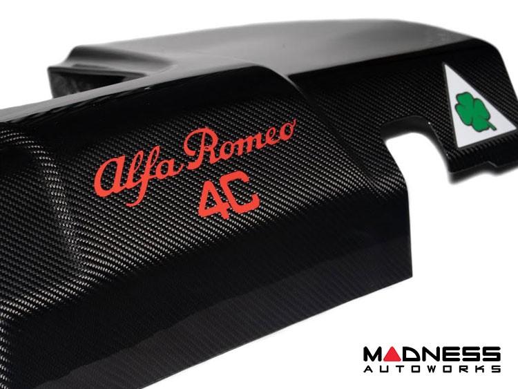 Alfa Romeo 4C Carbon Fiber Engine Cover - Quadrifoglio Verde