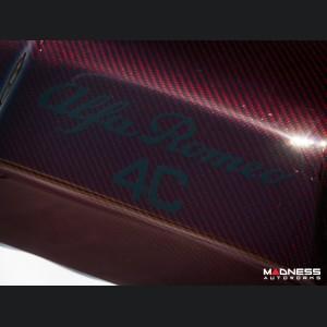 Alfa Romeo 4C Carbon Fiber Engine Cover - Red