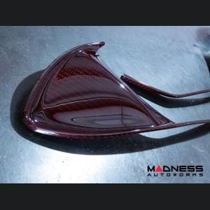Alfa Romeo 4C Carbon Fiber Front Grille Insert Trim Set - Red