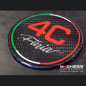 Alfa Romeo 4C Carbon Fiber Fuel Door - Furia - Red