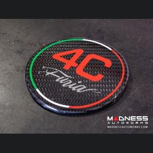 Alfa Romeo 4C Carbon Fiber Fuel Door - Furia - Red