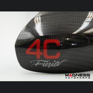Alfa Romeo 4C Mirror Covers - Carbon Fiber - Full Replacements - 4C Furia