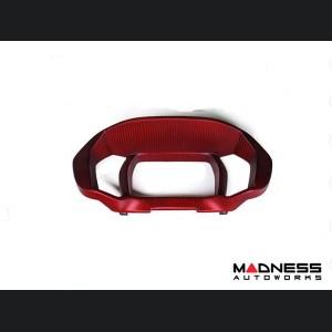 Alfa Romeo 4C Carbon Fiber Instrument Gauge Trim - Matte Red Finish