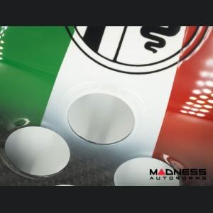 Alfa Romeo 4C Central MTA Control Cover - Carbon Fiber - Italian Airbrushed
