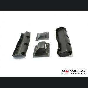 Alfa Romeo 4C Carbon Fiber Seat Belt Trim Set - Matte
