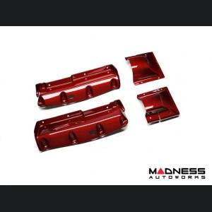 Alfa Romeo 4C Carbon Fiber Seat Belt Trim Set - Red