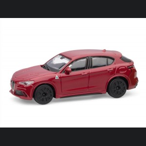 Alfa Romeo Stelvio Die Cast Model - 1:43 Scale - Red - Streets of Fire Series