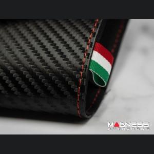 Document Holder - Alfa Romeo Logo - Carbon Fiber Finish