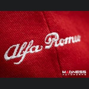 Cap - Alfa Romeo - Red w/ Classic Alfa Font in White