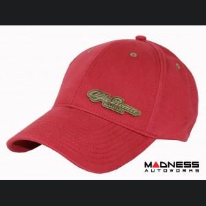 Alfa Romeo Cap - Red w/ Bronze Accents - Classiche