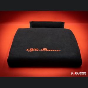 Seat Cushion - Black w/ Alfa Romeo Logo in Red