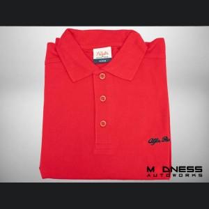Alfa Romeo Polo Shirt - Red w/ Black Script