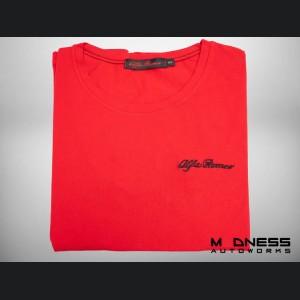 Alfa Romeo T-Shirt - Red w/ Black Logo