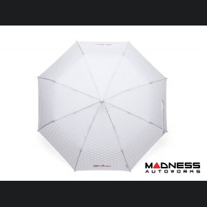 Alfa Romeo Umbrella - White w/ White Alfa Romeo Logo