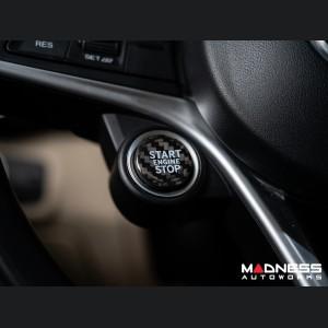 Alfa Romeo Stelvio Start Stop Button Overlay - Carbon Fiber - Feroce Carbon