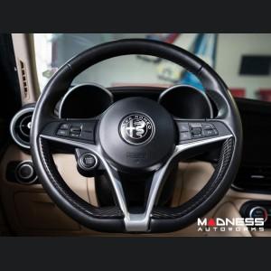 Alfa Romeo Stelvio Steering Wheel Trim - Carbon Fiber - Pre '20 models - Feroce Carbon