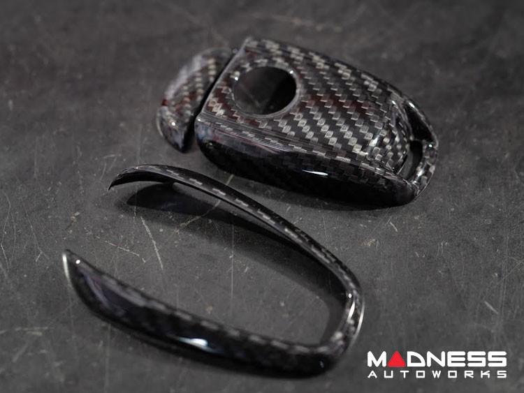 Alfa Romeo Giulia Key Fob Cover  - Carbon Fiber - Black