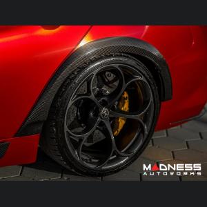 Alfa Romeo Giulia GTAm Style Rear Fenders Arch Set - Carbon Fiber