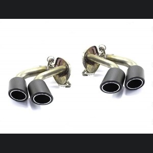 Alfa Romeo Giulia Exhaust Tips - Carbon Fiber - Quadrifoglio Version