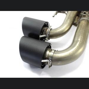 Alfa Romeo Giulia Exhaust Tips - Carbon Fiber - Quadrifoglio Version