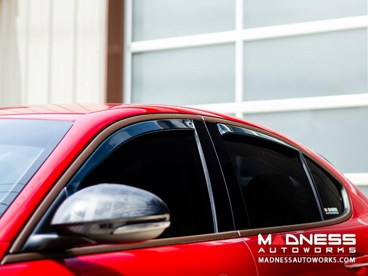 Alfa Romeo Giulia Side Window Air Deflectors - Front/ Rear 4 Piece Set - Farad