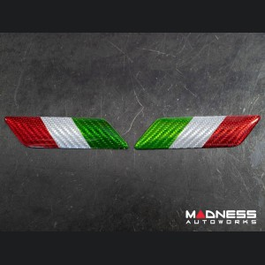 Alfa Romeo Stelvio Badges - Carbon Fiber - Italian Flag