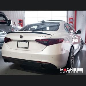 Alfa Romeo Giulia Trunk Spoiler - Carbon Fiber - QV Style - Feroce Carbon - Forged Carbon