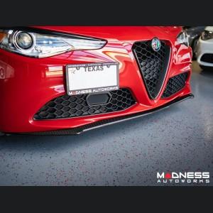 Alfa Romeo Giulia Front Spoiler - Carbon Fiber - Italia Style - V1- Stile Italia - Base Model