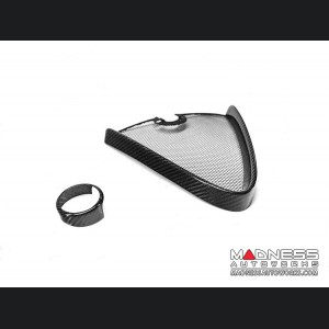 Alfa Romeo Giulia GTAm Style Front Bumper Essential Kit - Carbon Fiber - Without Parking Sensors