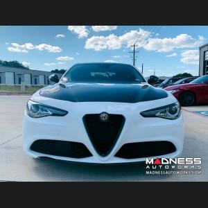 Alfa Romeo Giulia Hood - Carbon Fiber - QV Style