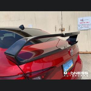 Alfa Romeo Giulia Trunk Spoiler - Carbon Fiber - GTam Style - Feroce Carbon
