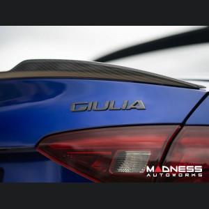 Alfa Romeo Giulia Trunk Spoiler - Quadrifoglio Style - 100% Carbon Fiber - MADNESS
