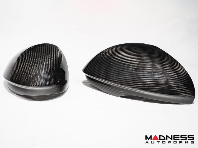 Alfa Romeo Giulia Mirror Covers - Carbon Fiber - Caps - Feroce Carbon
