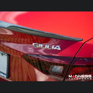 Alfa Romeo Giulia Trunk Spoiler - Carbon Fiber - QV Style