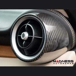 Alfa Romeo Giulia Air Vent Covers - Carbon Fiber - Front