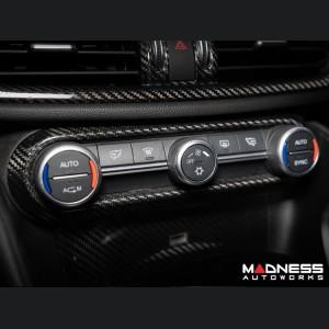 Alfa Romeo Giulia Air Conditioning (A/C) Dash Bezel - Carbon Fiber