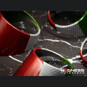 Alfa Romeo Giulia Air Vent Covers - Carbon Fiber - Italian Flag