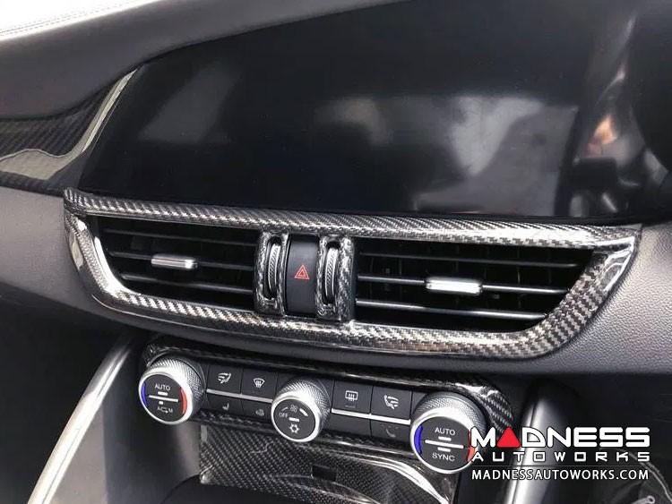Alfa Romeo Giulia Internal A/C Air Vent Cover Frame - Carbon Fiber - RHD