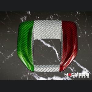Alfa Romeo Stelvio Shift Gate Panel - Automatic - Carbon Fiber - Italian Flag Design