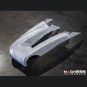 Alfa Romeo Giulia Steering Wheel Trim - QV Model - 2 piece lower trim - Carbon Fiber - White