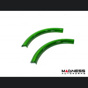 Alfa Romeo Giulia Steering Wheel Trim - Std Model - Upper Cover - Carbon Fiber - Green