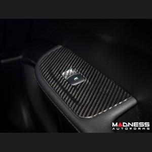 Alfa Romeo Giulia Window Switch Control Covers - Carbon Fiber