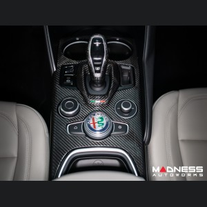 Alfa Romeo Giulia Shift Console Trim - Carbon Fiber - '20+ models - Feroce Carbon