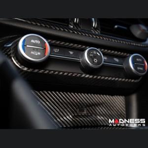 Alfa Romeo Stelvio Air Conditioning Dash Bezel - Carbon Fiber - Pre '20 models - Feroce Carbon