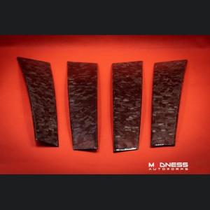 Alfa Romeo Stelvio Exterior Door Pillars - Carbon Fiber - Forged Carbon - 4pc Set