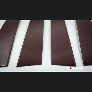 Alfa Romeo Stelvio Exterior Door Pillars - Carbon Fiber - Red Carbon - 4pc Set