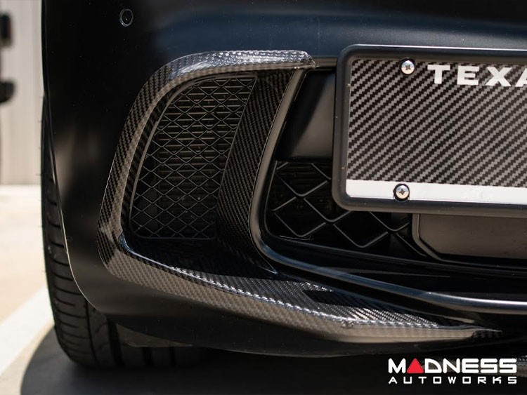 Alfa Romeo Stelvio Carbon Fiber Front Bumper Flaps - Quadrifoglio