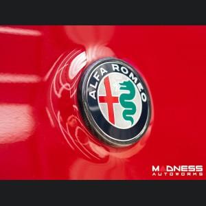 Alfa Romeo Stelvio Rear Emblem Frame Trim - Carbon Fiber