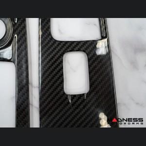 Alfa Romeo Stelvio Door Window Switch Trim Kit - Carbon Fiber - Feroce Carbon