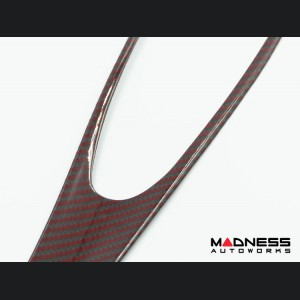 Alfa Romeo Stelvio Complete Interior Trim Kit - Red Carbon Fiber